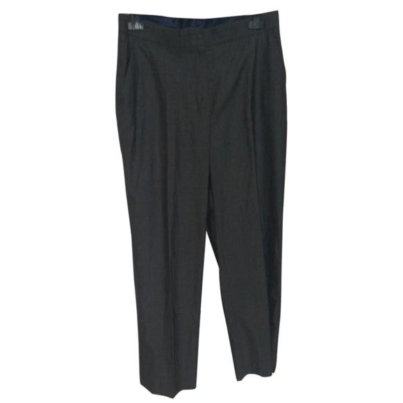MaxMara Wool Silk Blend Straight High Rise Pants